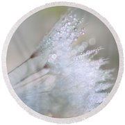 Dandelion Bling Bokeh Round Beach Towel by Peggy Collins