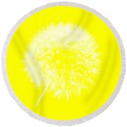 Round Beach Towel featuring the digital art Dandylion Yellow by Clayton Bruster