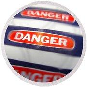 Danger Round Beach Towel