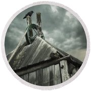Dark Days Round Beach Towel by Amy Weiss