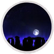 Dark Henge Round Beach Towel