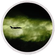 Dark Shadow  Round Beach Towel