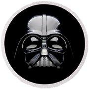 Darth Vader Helmet Round Beach Towel