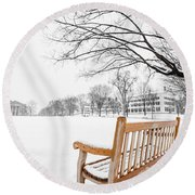 Dartmouth Winter Wonderland Round Beach Towel