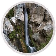 Round Beach Towel featuring the photograph Darwin Falls by Joe Schofield