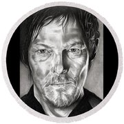Daryl Dixon - The Walking Dead Round Beach Towel