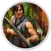 Daryl Dixon Walker Killer Round Beach Towel