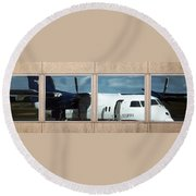 Dash Reflection Round Beach Towel