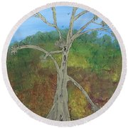 Dash The Running Tree Round Beach Towel