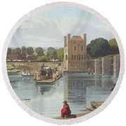 Datchet Ferry, Near Windsor, Engraved Round Beach Towel