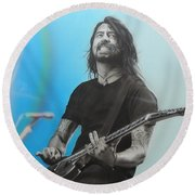 Dave Grohl Round Beach Towel