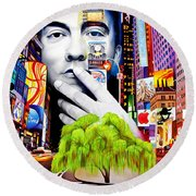 Dave Matthews Dreaming Tree Round Beach Towel