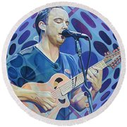 Dave Matthews Pop-op Series Round Beach Towel