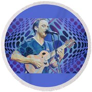 Dave Matthews-op Art Series Round Beach Towel