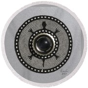 Camera Lens Round Beach Towel