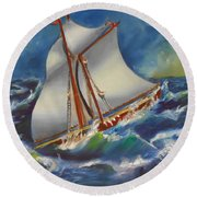 Daves' Ship Round Beach Towel