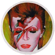 David Bowie Round Beach Towel