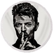 David Bowie - Pencil Round Beach Towel