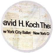 David H. Koch Theater Round Beach Towel