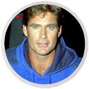 David Hasselhoff 1991 Round Beach Towel