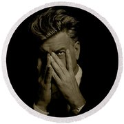 David Lynch Hands Round Beach Towel