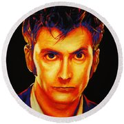 David Tennant Round Beach Towel