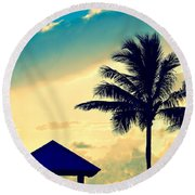 Dawn Beach Pyramid Round Beach Towel