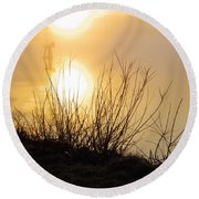Round Beach Towel featuring the photograph Dawn Of A New Day by Robyn King