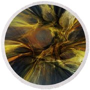 Round Beach Towel featuring the digital art Dawn Of Enlightment by David Lane