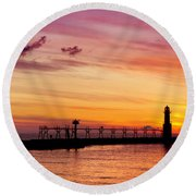 Dawn Of Promise Round Beach Towel