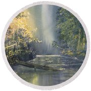 Dawn On The Derwent Round Beach Towel