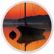 Round Beach Towel featuring the photograph Dawn's Light by Dianne Cowen
