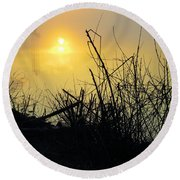 Round Beach Towel featuring the photograph Daybreak by Robyn King