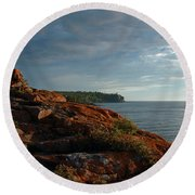 Daybreak At Campsite 19 Round Beach Towel by James Peterson