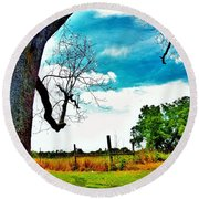 Round Beach Towel featuring the photograph Daydreamer by Faith Williams