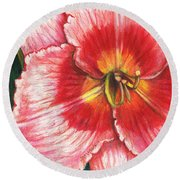Daylily Delight Round Beach Towel
