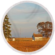 Round Beach Towel featuring the photograph Days End by Mary Carol Story