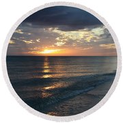 Days End Over Sanibel Island Round Beach Towel by Christiane Schulze Art And Photography