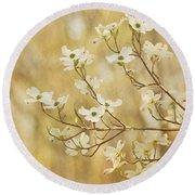 Days Of Dogwoods Round Beach Towel