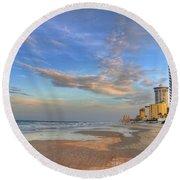 Daytona Beach Shores Round Beach Towel