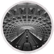 D.c. Subway Round Beach Towel by Dustin  LeFevre