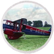 De Havilland Dragon Rapide Round Beach Towel