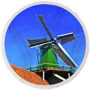 Round Beach Towel featuring the photograph De Huisman Spice Mill by Jonah  Anderson