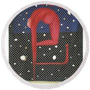 Round Beach Towel featuring the painting De Ja Vu_sold by Fei A