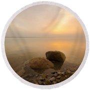 Dead Sea Sunrise Round Beach Towel