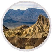 Death Valley Np Zabriskie Point 11 Round Beach Towel