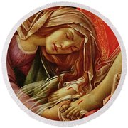 Deatil From The Lamentation Of Christ Round Beach Towel