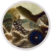 Round Beach Towel featuring the photograph Debris 12 B by WB Johnston