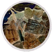 Round Beach Towel featuring the photograph Debris 2 by WB Johnston