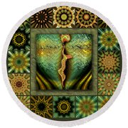 Decaying Moon Redux Round Beach Towel